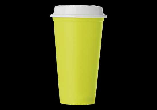 Plastic Mug with Lid 520ml - Green