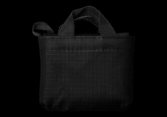 Foldable Shopper In Carry Bag - Black