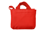 Foldable Shopper In Carry Bag - Red