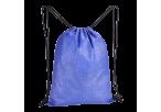 Melange Drawstring Bag - Non-Woven - Blue