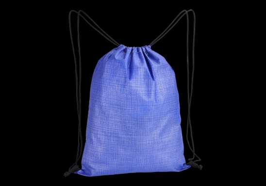 Melange Drawstring Bag - Non-Woven - Blue