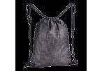 Melange Drawstring Bag - Non-Woven - black