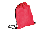 Melange Drawstring Bag - Non-Woven - Red