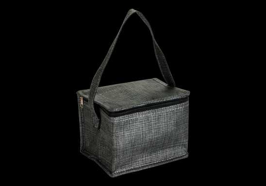 Melange 6 Can Cooler - Non-Woven - Black