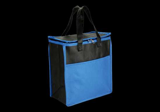 16 Can Cooler With Front Pocket - Non-Woven - Blue