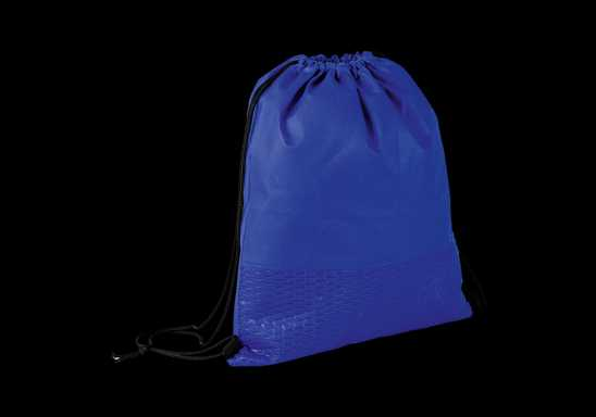 Wave Design Drawstring Bag - Non-Woven - Blue