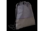 Wave Design Drawstring Bag - Non-Woven - Grey