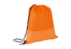 Wave Design Drawstring Bag - Non-Woven - Orange