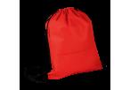 Wave Design Drawstring Bag - Non-Woven - Red
