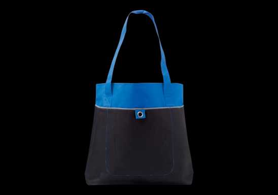600D Shopper with Front Pocket -Blue