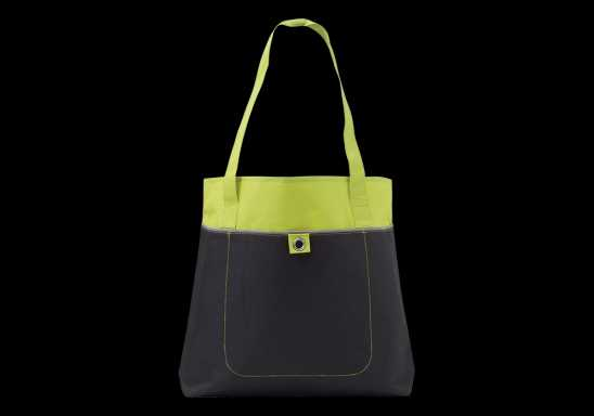 600D Shopper with Front Pocket -Lime
