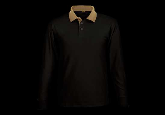Archer Long Sleeve Golfer - Black