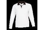 Archer Long Sleeve Golfer - White/black