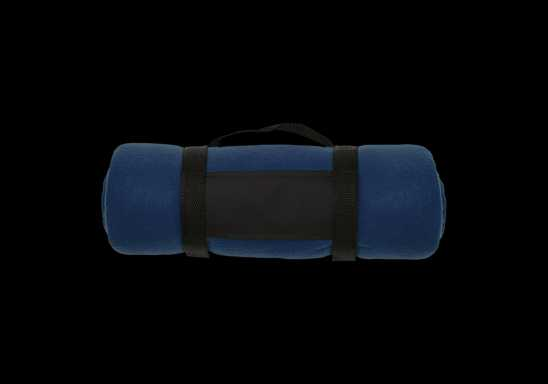 Fleece Blanket with Carry Strap - Blue