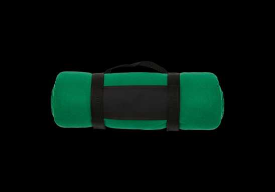 Fleece Blanket with Carry Strap - Green
