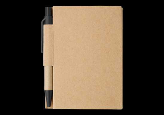 Mini Recycled Notebook and Pen - Black
