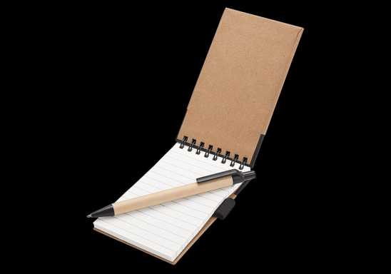 Recycled Jotter Pad and Pen