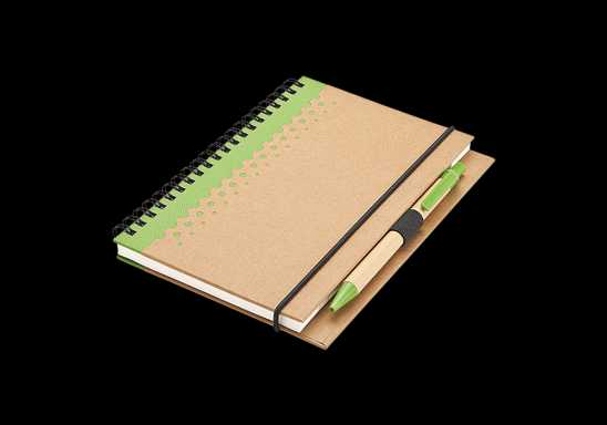 Recycled Junior Pad and Pen - Green