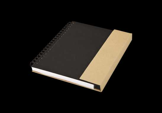 Recycled Notebook with Magnetic Flap - Black