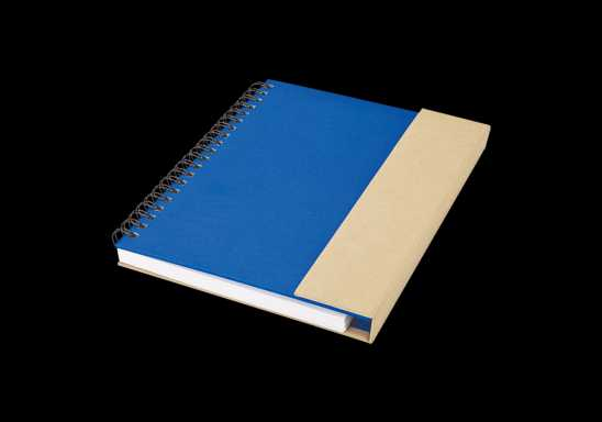 Recycled Notebook with Magnetic Flap - Blue