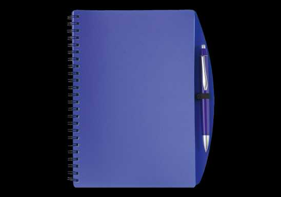 A5 Spiral Notebook and Pen - Blue