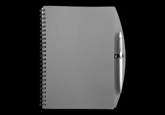 A5 Spiral Notebook and Pen - Grey
