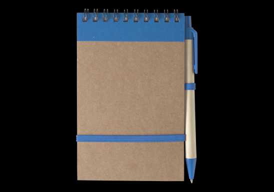 Recycled A6 Jotter and Pen - Blue