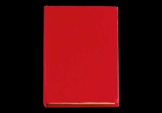 Card Case with Sticky Notes - Red