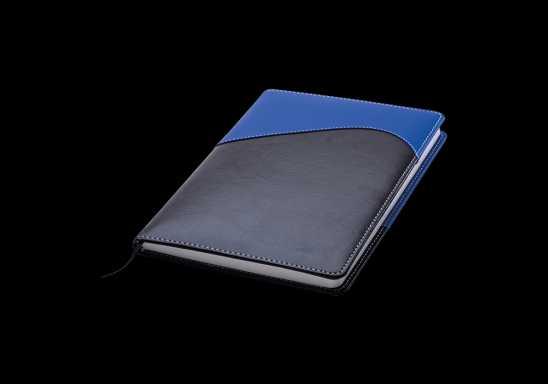 Colour Accent Wave Design Notebook - Blue