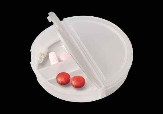 Round 3 Compartment Pill Holder