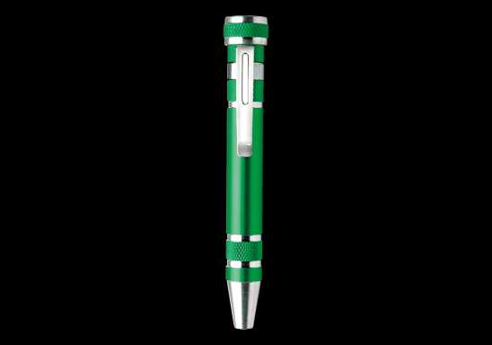 Pen Shaped Pocket Screwdriver - Green