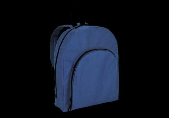 Backpack with Arched Front Pocket - 600D - Navy