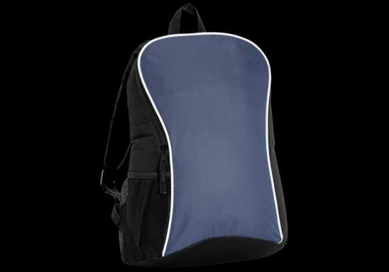 Curve and Arch Design Backpack - Navy