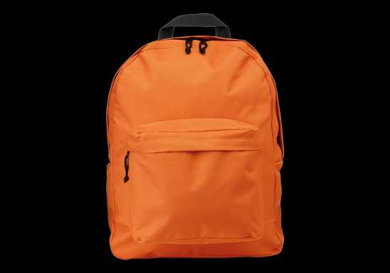 Arched Front Pocket Backpack - Orange