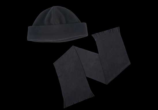 Glacier Scarf and Beanie Set - Black