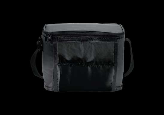 Cooler with Folding Cup Holders - Black
