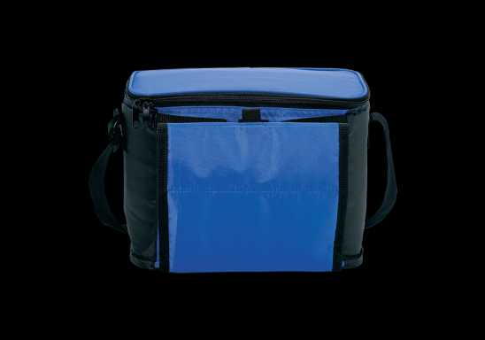 Cooler with Folding Cup Holders - Blue