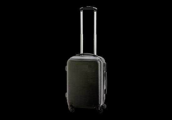 Hard Shell Luggage Trolley - Black