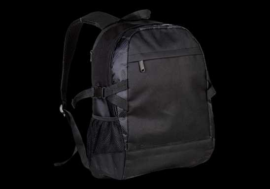Side Strap Backpack - Black
