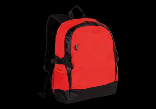 Side Strap Backpack - Red