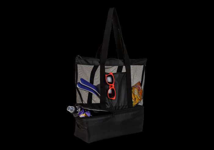 Tote Bag With Cooler Compartment