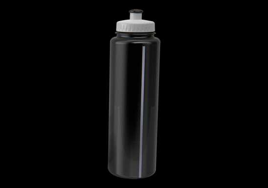 750ml Classic Sports Water Bottle - Black