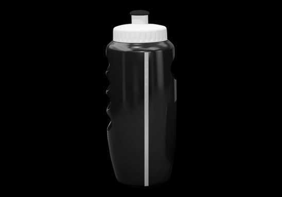 500ml Visi Stripe Cross Train Water Bottle - Black