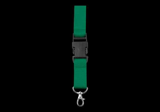Lanyard with Safety Release Clip - Green