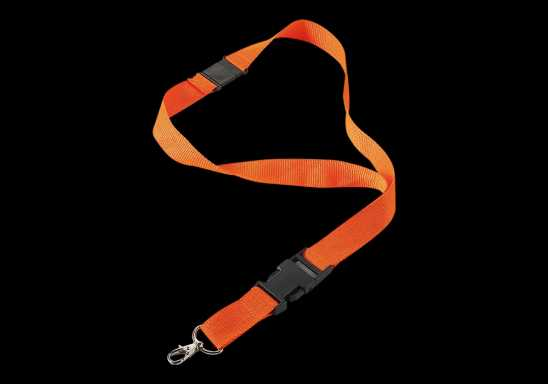 Lanyard with Safety Release Clip - Orange