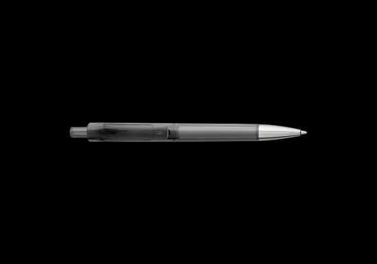 Ballpoint Pen With Transparent Coloured Barrel - Black