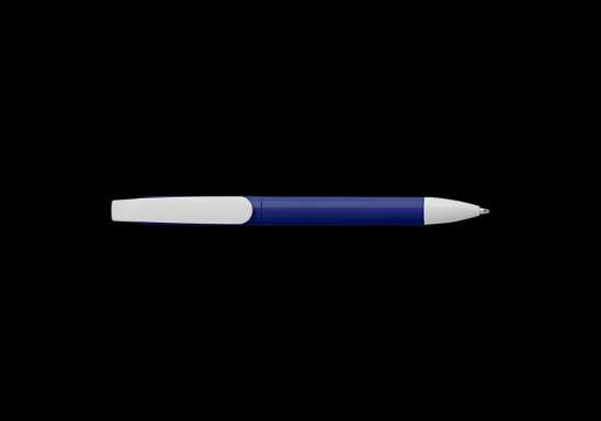 Twist Action Ballpoint Pen With Coloured Barrel - Blue