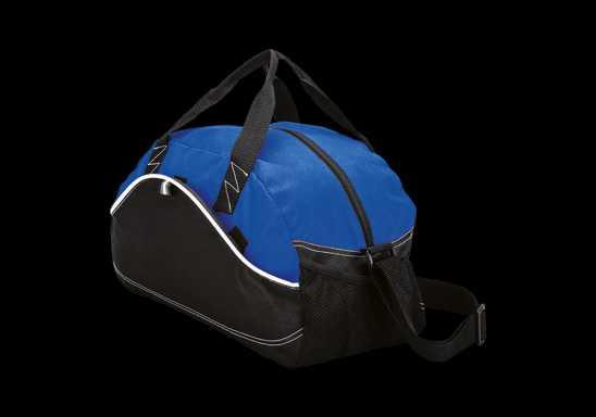 Dual Material Duffel Bag - 600D - Non-Woven - Blue
