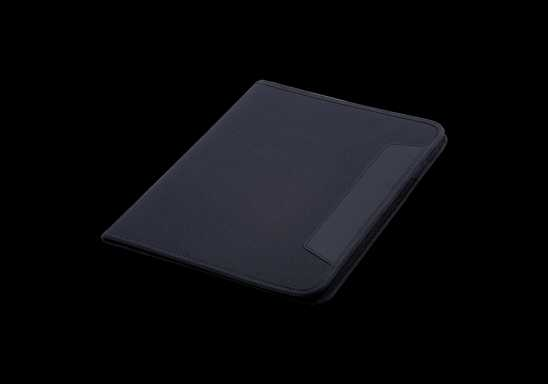600D A4 Folder with Inner Pocket - Black