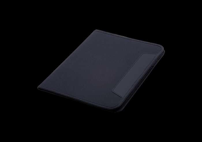 600D A4 Folder with Inner Pocket - Black